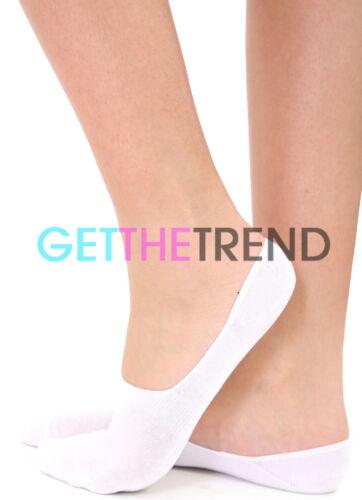 6 Womens invisible Socks Ladies Trainer Shoe Footsies Ballerina 3 12 Pairs