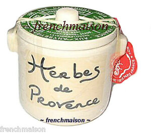 Aux-Anysetiers-du-Roy-French-Food-Herbs-HERBES-DE-PROVENCE-Pottery-Crock-1oz-New