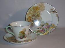 """Shelley New Regent Shape """" Heather """" Pattern Tea / Coffee Cup Trio ( 1925 - 45 )"""