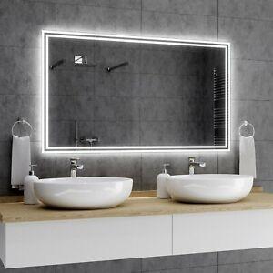 Details zu WIEDEN Badspiegel mit LED Beleuchtung Wandspiegel  Badezimmerspiegel nach Maß A01