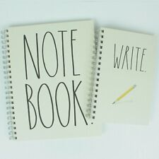 New Rae Dunn Write Amp Note Book Spiral Notebookjournal Set Of 2 Largesmall