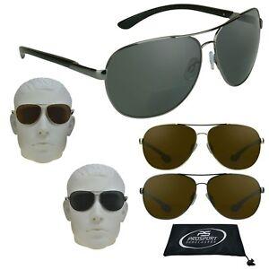 15f079fbd63 Image is loading Mens-POLARIZED-AVIATOR-Bifocal-Reading-Sunglasses-Sun- Reader-