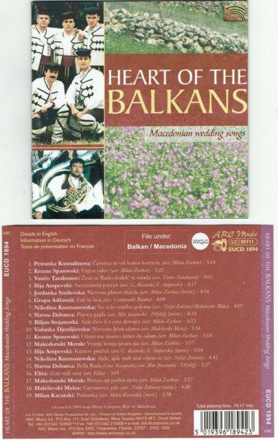 Heart of The Balkans - Macedonian Wedding Songs / CD 2004 19 Tr. Nord Mazedonien