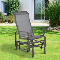 Patio Porch Glider Bench Swing Sling Chair Rocker Mesh Outdoor Garden Furniture