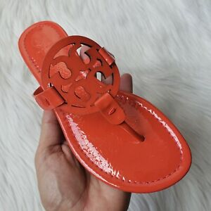 Tory-Burch-Miller-Patent-Leather-Sandals-in-Bright-Samba-Red-Womens-Size-11