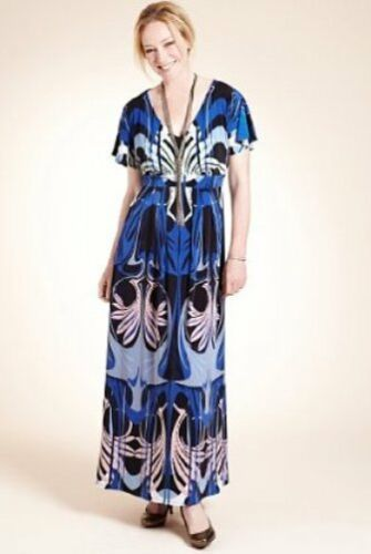 BNWT M/&S Woman Twiggy Abstract Maxi  Dress Sz UK 10 RRP £69