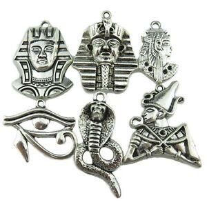 6X-Vintage-Egypt-Egyptian-Pharaoh-Snake-Cobra-Guard-Horus-Ra-Amulet-Eye-Pendant