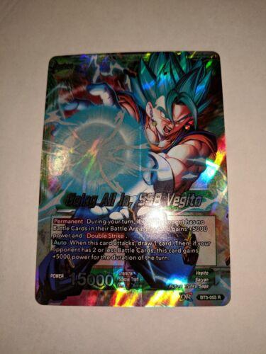 1X NM Going All In SSB Vegito BT3-055 Rare Dragon Ball Super CCG