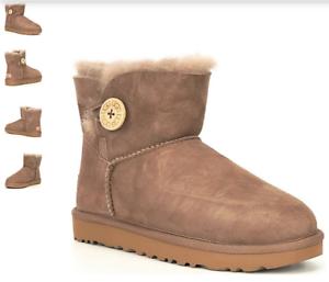 UGG-Mini-Bailey-Button-II-Caribou-Boot-Women-039-s-US-sizes-5-11-NEW