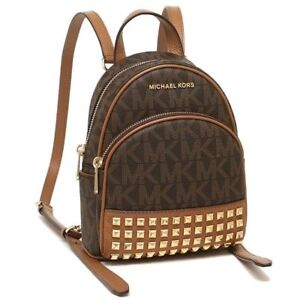 3bef3855890b1 Michael Kors Abbey 35t7gayb0b XS Studded Backpack PVC Brown acorn   eBay