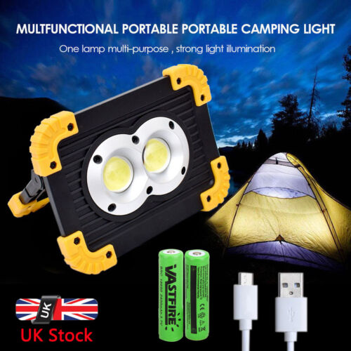 20W COB Led Rechargeable Work Light Super Bright Floodlight Emergency Camping UK