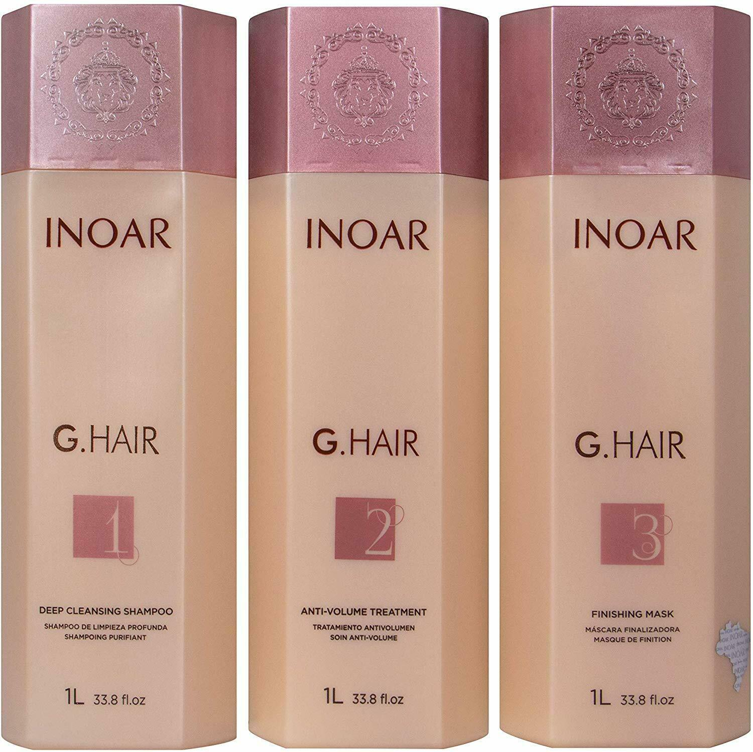 Inoar G Hair Brazilian Keratin Treatment Blow Dry Hair Straightening Full Kit 3 X 250ml For Sale Online Ebay