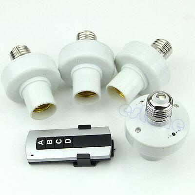 4Pcs Wireless Remote Control E27 Light Lamp Bulb Holder Cap Socket Switch Newest