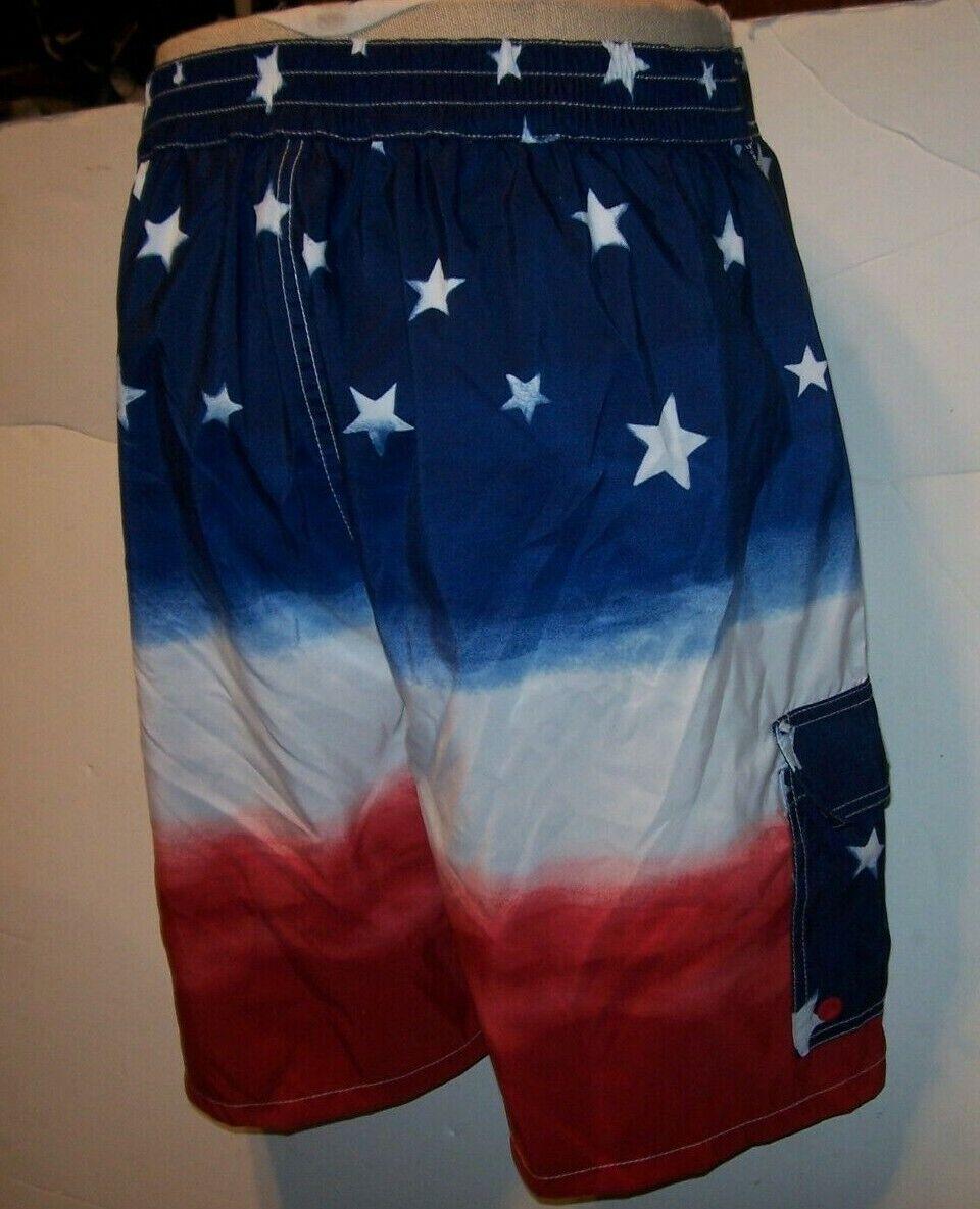 Polo Ralph Lauren red white bluee FLAG board shorts swimsuit trunk MEDIUM o LARGE