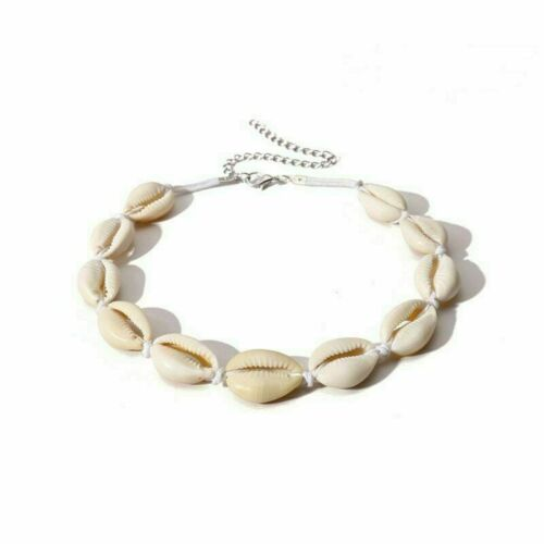 Sea Shell Summer Beech Charm Rope White Chain Choker Statement Pendant Necklace