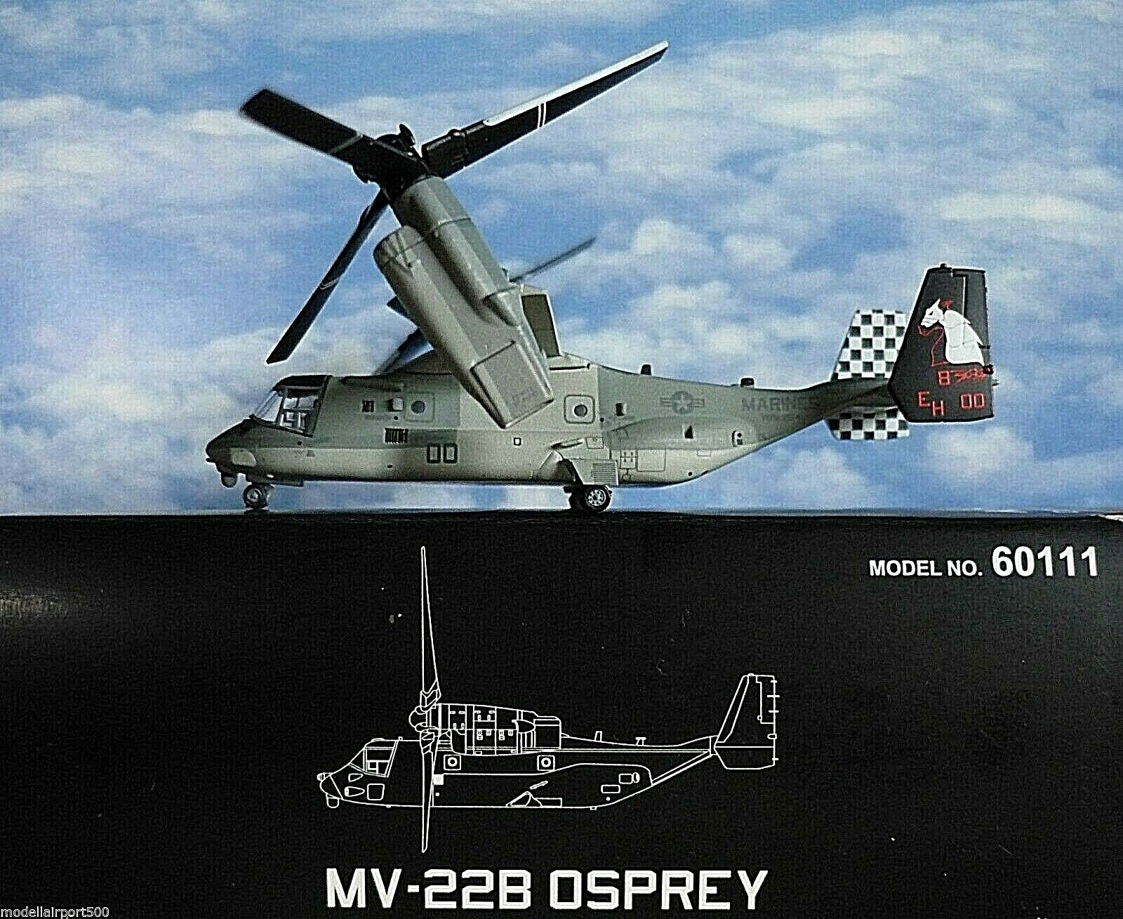 Hogan Wings 1 200 Boeing Mv 22b Osprey U. S. Marines 60111+ Herpa Wings Catálogo