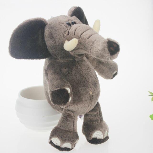 Gray 20cm Long Nose Elephant Stuffed Animals Soft Toy Plush Doll