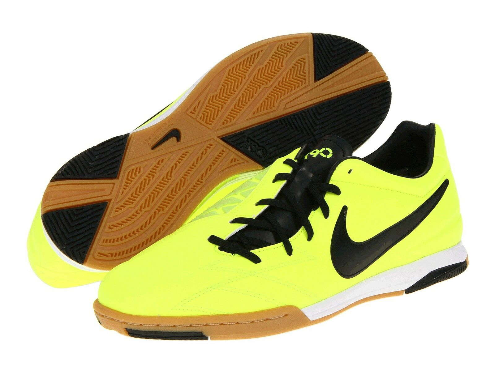 Nike Total 90 Shoot IV IC Indoor 2012 Soccer Shoes Brand New Volt - Black