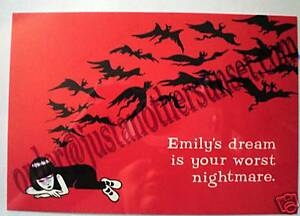 Emily the Strange Print Postcard See Emily Play Gothic