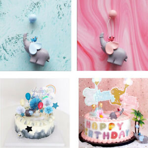 Enjoyable 1Pc Cute Blue Pink Elephant Cupcake Topper Baby Shower Birthday Funny Birthday Cards Online Alyptdamsfinfo