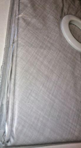 Gris Crosshatch rectangulaire PVC Patio Table Cover W Parasol Trou 132x178cm Lin