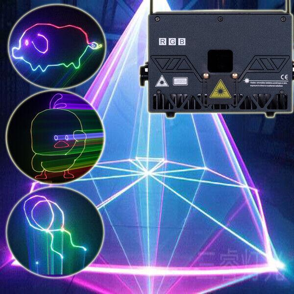 6W 8W 10W RGB ILDA Animation High brightnes Laser Pro club Stage Light projector