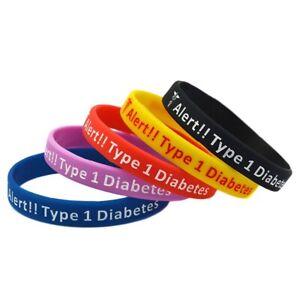 Medical-Alert-Bracelet-1-Pack-Silicone-Men-Women-Wristband-Set-Diabetic-1-vXAmo