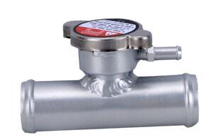 In-Line-Aluminum-Radiator-Hose-Filler-Neck-Cap-1-1-4-034-Hose-32mm-New