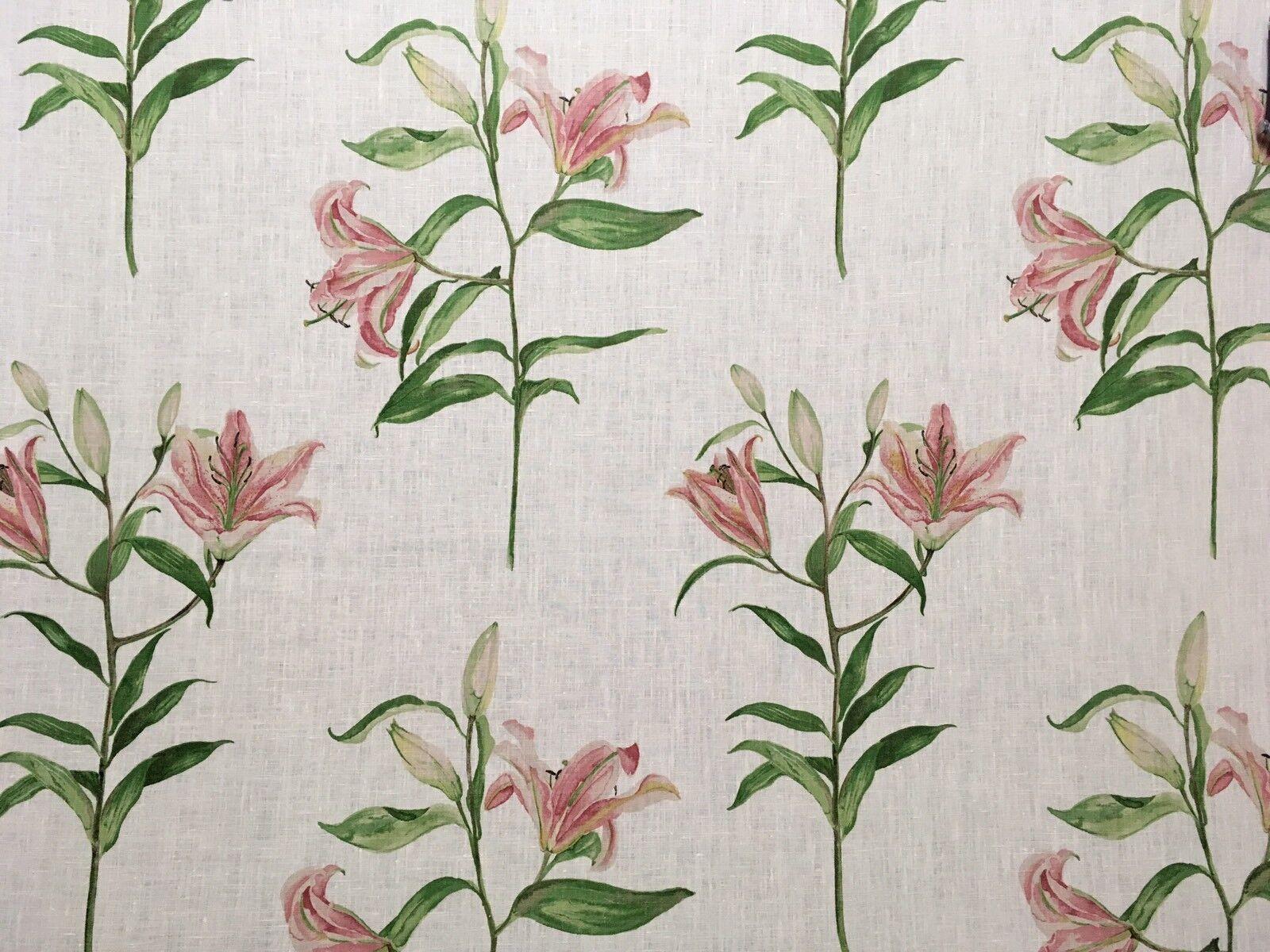 Sanderson  Lucia  Cuscino Curtain Cieco Tessuto 100% LINO 2.3m