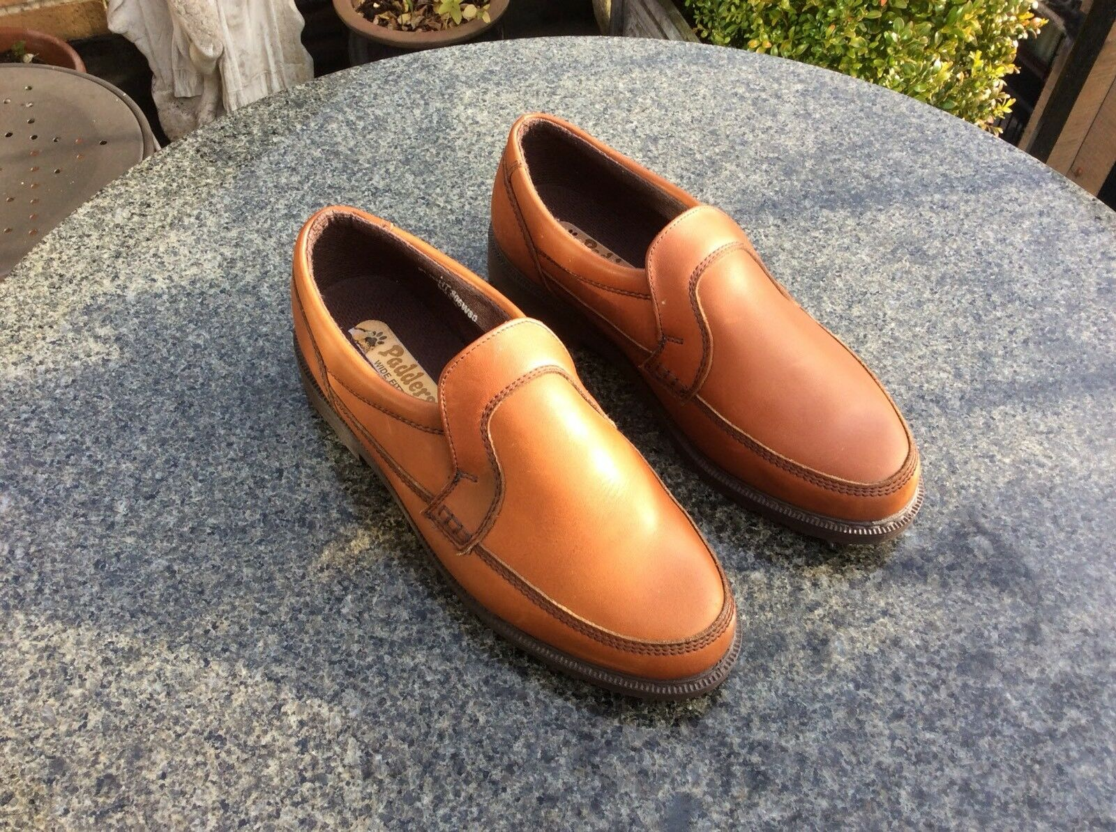 2c444b230f840e Padders, Tan/Marron en cuir, chaussures hommes, taille 8-wide 8-wide 8-wide  fit-NEUF (autres) | Durable Service 9a9a4e