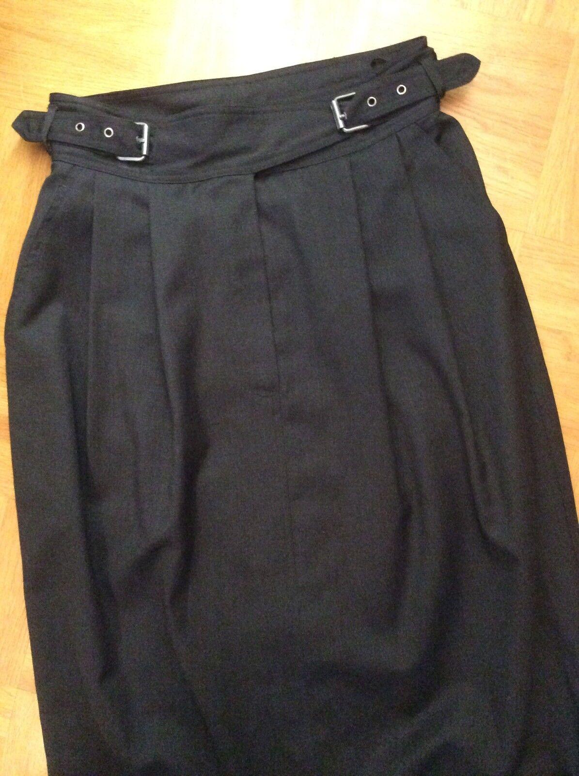 NEUw  Pencil Skirt Bleistift Rock Wolle feinste ital. Qualität XS Gr. 34 TOP
