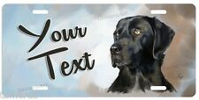 BEAUTIFUL BLACK LABRADOR PAINTING LICENSE PLATE, PERSONALIZED