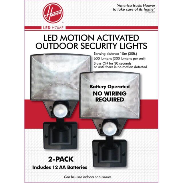 2pk Hoover Led Motion Activated Outdoor