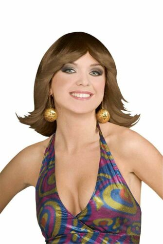 One Size Forum Novelties Womens 70s Disco Fever Flip Style Brown Wig Blonde