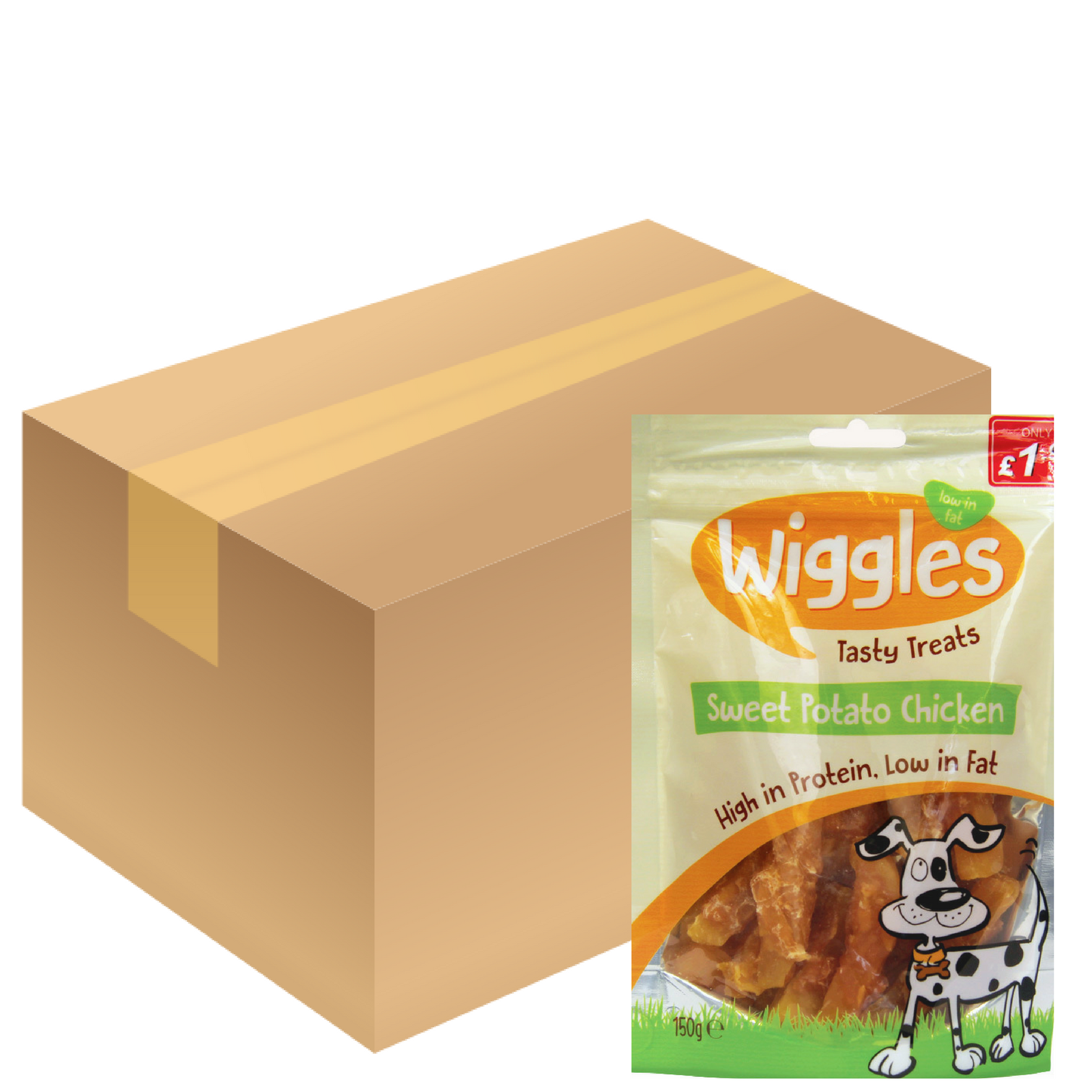Wiggles Sweet Potato Chicken Jerky Dog Treats Treats Treats Healthy Natural 150g-24 Bags Bulk bd5b73