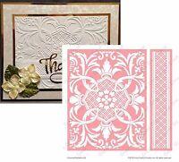 Cuttlebug Embossing Folders Crowned Medallion Anna Griffin Embossing Folder Set