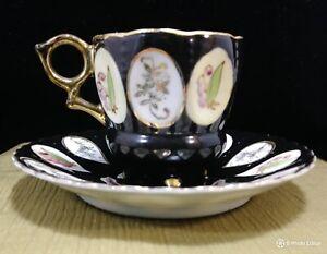 Vintage-1940-Ohashi-Handpainted-Footed-Demitasse-Tea-Cup