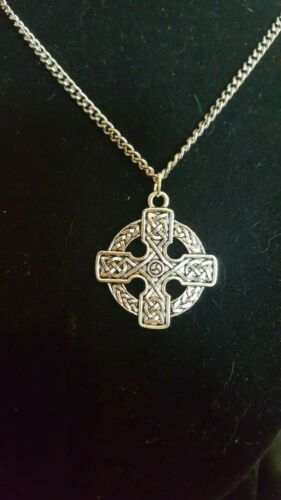 Celtic Cross Necklace Stainless Steel Chain 4 styles 3 sizes