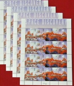 Four Sheets x 20 = 80 Of SPACE DISCOVERY 32¢ US PS Postage Stamps Sc # 3238-3242