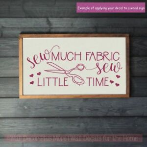 Seamstress-Vinyl-Art-Decals-Sew-Little-Time-Sewing-Room-Wall-Stickers-Home-Decor