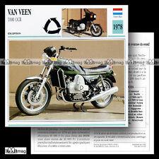 #014.03 VAN VEEN 1000 OCR 1978 Fiche Moto Motorcycle Card