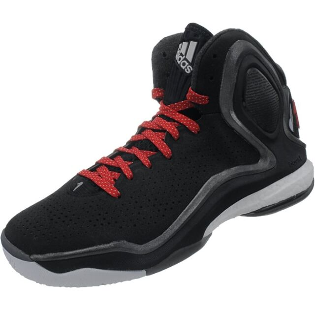 new concept 21851 597f8 adidas D Rose 5 Boost Black Red Chicago Bulls Mens Basketbal