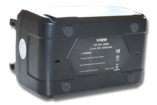 V28 SX V28 VC BATTERY 3000mAh for Milwaukee V28 SG