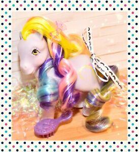 ❤️My Little Pony MLP G1 Vtg Brush 'n Grow Ringlets Long Hair Lavender 1985❤️