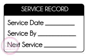 Service-Record-Date-Due-Mechanic-Plumber-Electrician-Gas-Stickers-Labels-Seals