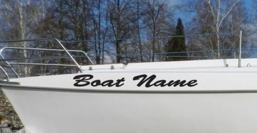 Custom Personalized Boat Name Sticker Decal Vinyl LETTERING PWC POC Outdoor sign