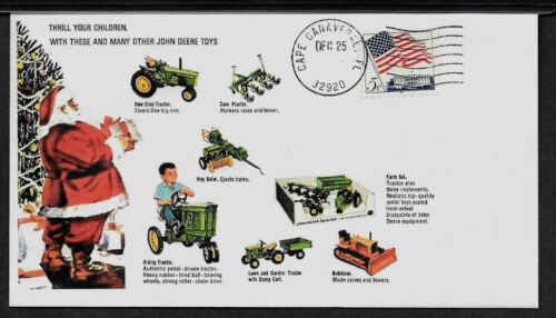 1965 John Deere Diecast Toys Featured on Xmas Collector/'s Envelope *A130