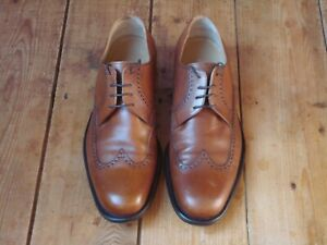 Austin Reed Mens Brogue Shoes Vgc Size Uk7 5 Tan Light Brown Made In Italy Ebay