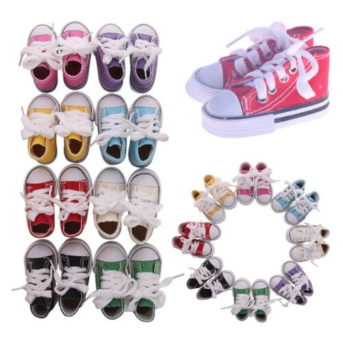 """Doll Clothes fits Girl Doll Hot 18/"""" Canvas Sneakers Gym Shoes Accessory HoENq"""