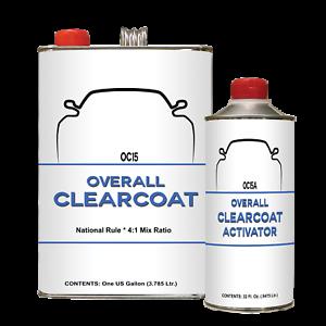 High Gloss Acrylic Urethane Clear Coat, OC15/15A Gallon Universal Clearcoat Kit